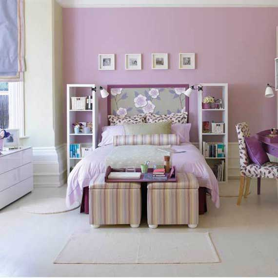 cute purple pink girls bedroom design ideas
